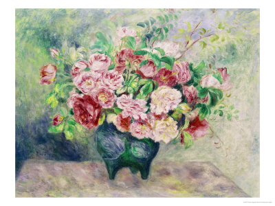 A Bouquet of Flowers Giclee Print by Pierre-Auguste Renoir
