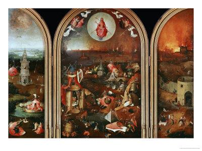 Dommedag Giclée-tryk af Hieronymus Bosch
