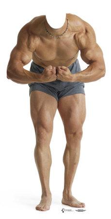 Muscle Man Lifesize Standup Cardboard Cutouts