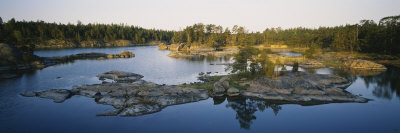 Reflection of Trees on Water, Archipelago, Baltic Sea, Sodermanland, Sweden Photographic Print by  Panoramic Images
