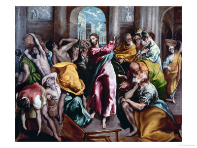 Christ Driving the Moneylenders from the Temple, 1600 Giclee Print by  El Greco