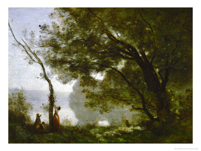 Memory of Mortefontaine, France, 1864 Giclee Print by Jean-Baptiste-Camille Corot