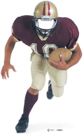 Football Player Lifesize Standup Cardboard Cutouts