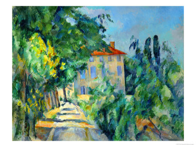Maison Au Toit Rouge- House with a Red Roof, 1887-90 Giclee Print by Paul Cézanne