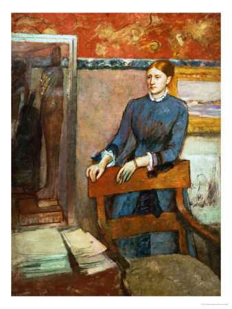 Helene Rouart in Her Father's Study, 1886 Giclee Print by Edgar Degas
