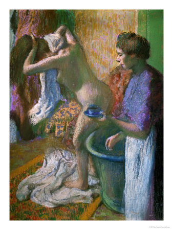 Breakfast after the Bath Giclee Print by Edgar Degas