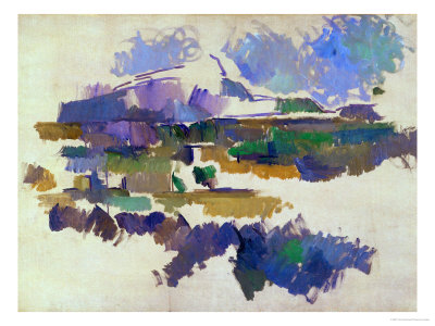 The Mont Sainte-Victoire, Seen from Lauves, 1905 Giclee Print by Paul Cézanne