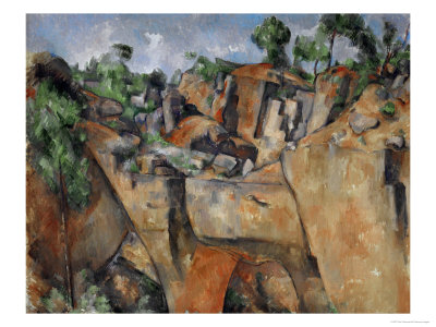 The Quarry at Bibemus, circa 1895 Gicle-Druck
