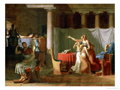 The Lictors Bring Brutus the Bodies of His Sons Giclee Print by Jacques-Louis David