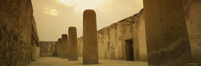 Columns in the Courtyard of a Building, Hall of the Columns, Mitla, Oaxaca, Mexico Photographic Print by  Panoramic Images