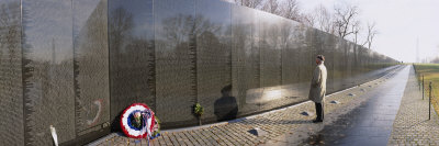Person Standing in Front of a War Memorial, Vietnam Veterans Memorial, Washington D.C., USA Photographic Print by  Panoramic Images