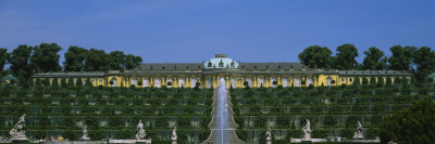 Formal Garden in Front of a Palace, Sanssouci Palace, Potsdam, Brandenburg, Germany Photographic Print by  Panoramic Images