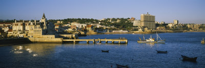Buildings at the Waterfront, Cascais, Lisbon, Portugal Photographic Print by  Panoramic Images