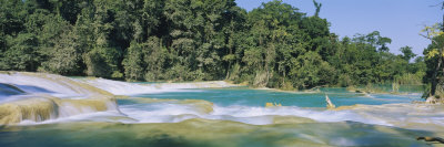 Water Flowing in the Forest, Agua Azul, Chiapas, Mexico Photographic Print by  Panoramic Images