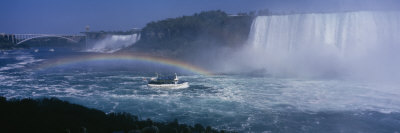 Tourboat near Waterfalls, Niagara Falls, Ontario, Canada Photographic Print by  Panoramic Images