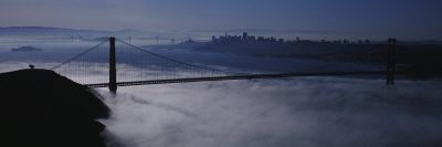 Fog over Golden Gate Bridge, San Francisco, California, USA Photographic Print by  Panoramic Images