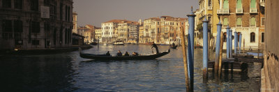 Tourists Sitting in a Gondola, Grand Canal, Venice, Italy Photographic Print by  Panoramic Images