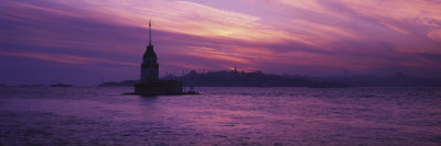 Leander's Tower and Blue Mosque, Istanbul, Turkey Photographic Print by  Panoramic Images