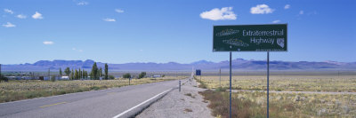 Empty Road Running through a Landscape, Route 375, Extraterrestrial Highway, Nevada, USA Photographic Print by  Panoramic Images