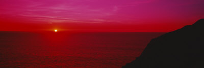 Sunset over the Ocean, California, USA Photographic Print by  Panoramic Images