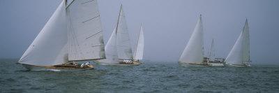 Sailboats at Regatta, Newport, Rhode Island, USA Photographic Print by  Panoramic Images