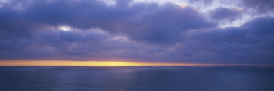 Storm Clouds over the Sea, California, USA Photographic Print by  Panoramic Images