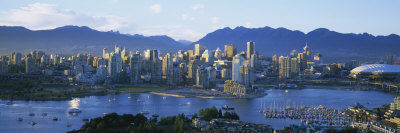 Skyscrapers at the Waterfront, Vancouver, British Columbia, Canada Photographic Print by  Panoramic Images
