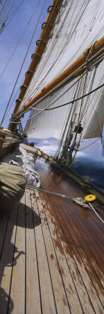 Sailboat Deck Photographic Print by  Panoramic Images