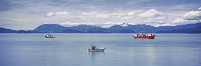 Boats on Water, Wrangell, Alaska, USA Photographic Print by  Panoramic Images
