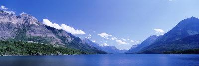 Mountain Range along a Lake, Glacier National Park, Waterton Lakes National Park, Alberta, Canada Photographic Print by  Panoramic Images