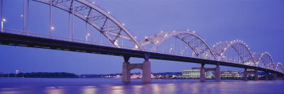Bridge over a River, Centennial Bridge, Davenport, Iowa, USA Photographic Print by  Panoramic Images