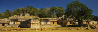 Tree in the Courtyard of a Ruined Palace, el Palacio, Labna, Mexico Photographic Print by  Panoramic Images