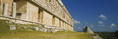 Ruined Building, Governor's Palace, Uxmal, Mexico Photographic Print by  Panoramic Images