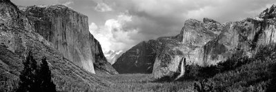 Rock Formations in a Landscape, Yosemite National Park, California, USA Photographic Print by  Panoramic Images
