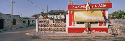 Rio Lagartos, House and Food Stand, Yucatan, Mexico Photographic Print by  Panoramic Images