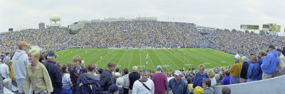 Spectators in a Football Stadium, Iowa, USA Photographic Print by  Panoramic Images