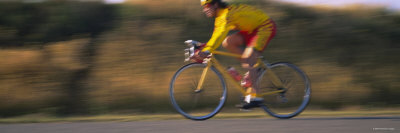 Man Cycling Photographic Print by  Panoramic Images