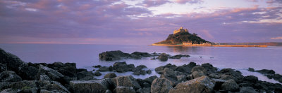 Castle on Top of a Hill, St. Michael's Mount, Cornwall, England Photographic Print by  Panoramic Images