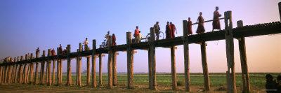 U Bein Bridge, Mandalay, Myanmar Photographic Print by  Panoramic Images