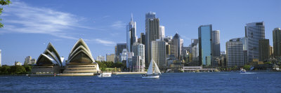 Sydney Opera House and City, Sydney Harbor, Sydney, New South Wales, Australia Photographic Print by  Panoramic Images