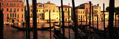 Gondolas in a Canal, Venice, Italy Photographic Print by  Panoramic Images