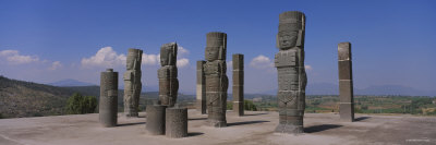 Statues in a Temple, Atlantes Statues, Tula, Mexico Photographic Print by  Panoramic Images