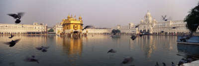 Reflection of a Temple in a Lake, Golden Temple, Amritsar, Punjab, India Photographic Print by  Panoramic Images