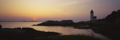 Lighthouse on the Coast, Cape Ann, Gloucester, Massachusetts, USA Photographic Print by  Panoramic Images