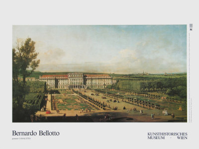 The Castle Schoenbrunn as Seen from the Garden Prints by  Canaletto