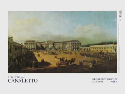 The Castle Schoenbrunn Courtyard Posters by  Canaletto