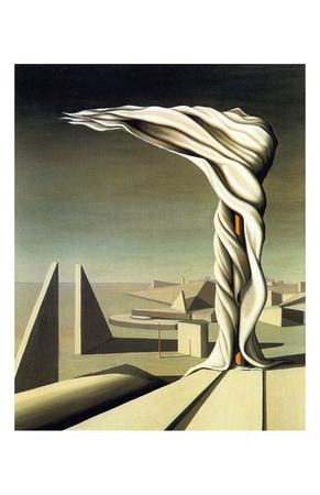 J'Ai Vu Trois Cites, 1944 Print by Kay Sage