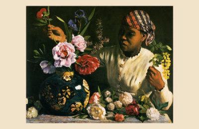La Negresse aux Pivoines, 1870 Pósters por Frederic Bazille