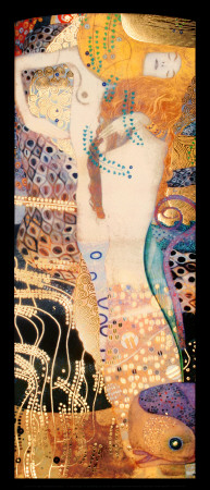 Serpientes acuáticas I, c.1907 Lámina por Gustav Klimt