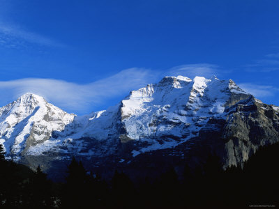 Panoramic View of the Eiger, Monch and Jungfrau, Switzerland Premium Photographic Print by Jeremy Walker
